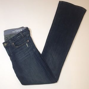 GAP 1969 Sexy Boot Distressed Bootcut Jeans